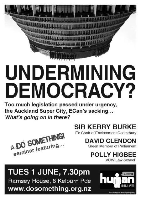 Do Something! Undermining Democracy?